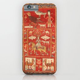 Kuba Hunting Rug With Birds Horses Camels Print iPhone Case