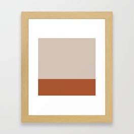 Minimalist Solid Color Block 1 in Putty and Clay Framed Art Print