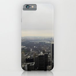Grey Clouds over Central Park, NYC iPhone Case