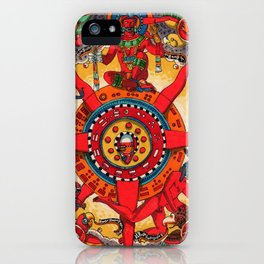 La Rueda de la Fortuna Yollo Cuepcayotl iPhone Case