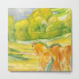 """Franz Marc """"Large Landscape I (Landschaft I)"""" Metal Print"""