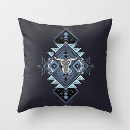 Vintage ethnic geometric hand drawn illustration Throw Pillow