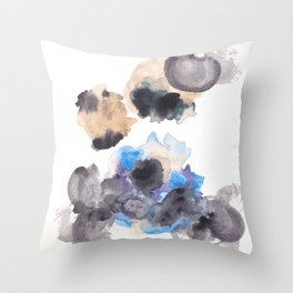 170714 Abstract Watercolour Play 10  Modern Watercolor Art   Abstract Watercolors Throw Pillow