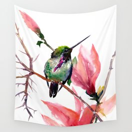 Hummingbird and Magnolia Wall Tapestry