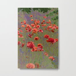 Poppy Garden Abstract Metal Print