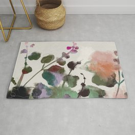 floral abstract summer autumn Rug