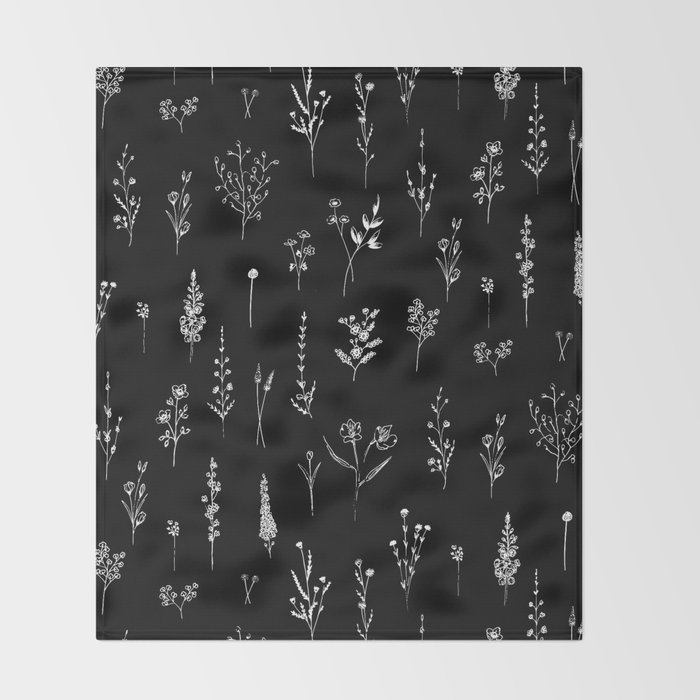 Black wildflowers Decke