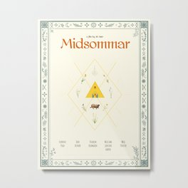 Midsommar Movie Poster Metal Print