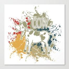 Cow cows gift beef milk calf Färsin Canvas Print