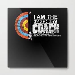 Archery Coach Metal Print