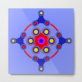 Fidget Spinner Design version 4 Metal Print