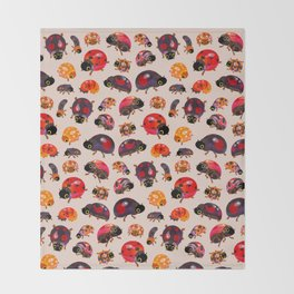 Lady beetles Throw Blanket
