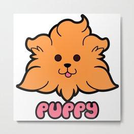 PUPPY Caramel Metal Print