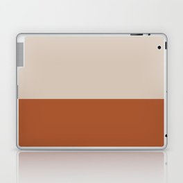 Minimalist Solid Color Block 1 in Putty and Clay Laptop & iPad Skin