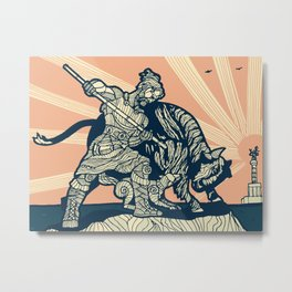 Berlin - The Bull Hunter Metal Print