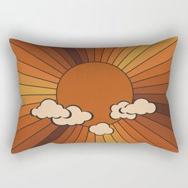 Retro Sunshine Rectangular Pillow