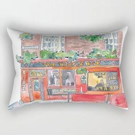 Ireland Dublin The Temple Bar Street Scene Rectangular Pillow