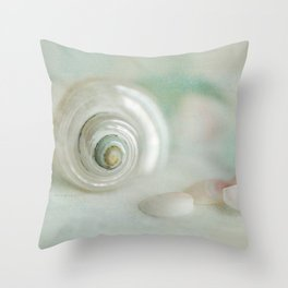 mother of pearl shells Throw Pillow