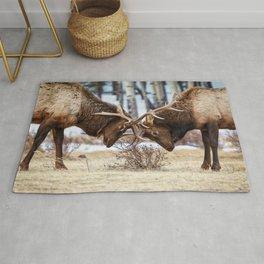 Elk In Rut Colorado Wildlife Rocky National Park Rug