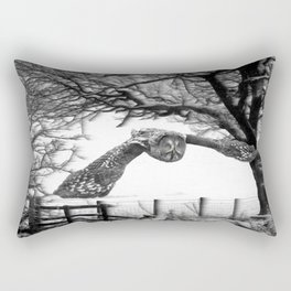Great gray owl Rectangular Pillow