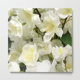 Elegant White Floral Spring Bouquet Metal Print