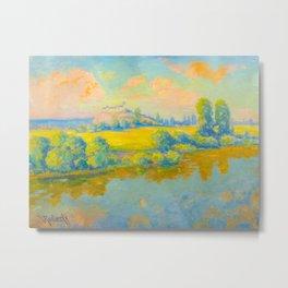 Václav Radimský (1867-1946) Pastel Colorful Impressionist Landscape Oil Painting Metal Print