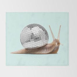 DISCO SNAIL Throw Blanket