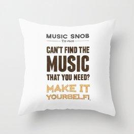 D. I. Y. — Music Snob Tip #608 Throw Pillow