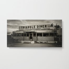 Triangle Diner Metal Print