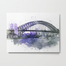 Sydney Harbor Bridge II Metal Print