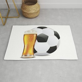Beer and Soccer Ball Rug