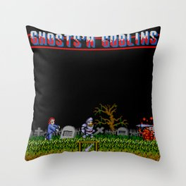 Ghosts 'n Goblins Throw Pillow