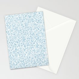 Blue little flowers Stationery Cards
