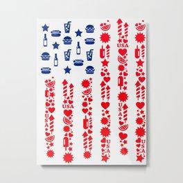 Fourth Of July Celebration USA Flag Metal Print