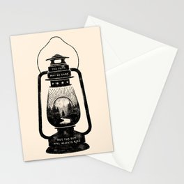 THE PATH MAY BE DARK BUT THE SUN WILL ALWAYS RISE Stationery Cards