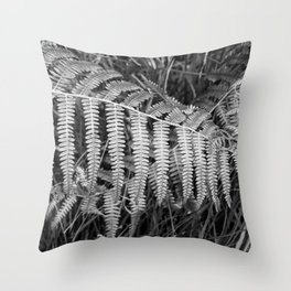 Silver colored fern Throw Pillow