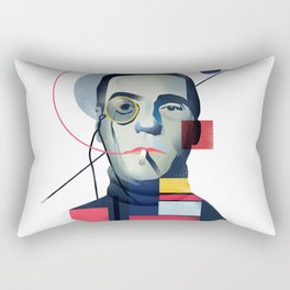 Famous people in a bauhaus style - Jerony Irons Rectangular Pillow