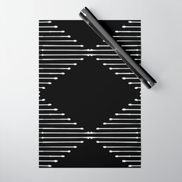 Geo / Black Wrapping Paper