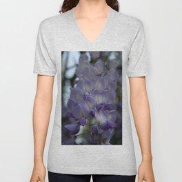 Purple and Violet Wisteria Blossom Unisex V-Neck