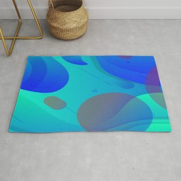 Purple Blue And Green Abstract Design Rug