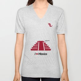 I love Mexico - Teotihuacan Unisex V-Neck