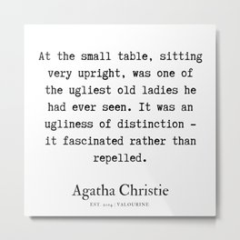 79  | Agatha Christie Quotes | 190821 Metal Print