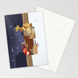 Kidnapping Santa Stationery Cards