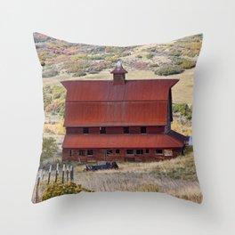 Perry Park Barn Throw Pillow
