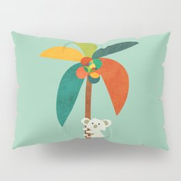 Koala on Coconut Tree Pillow Sham