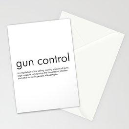 Gun Control Definition Stationery Cards