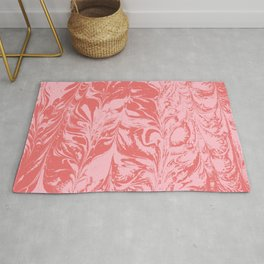 Mizuko - spilled ink abstract watercolor japanese marbled paper marbling marble case Rug
