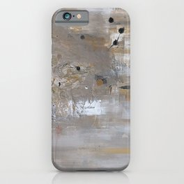 Silver and Gold Abstract iPhone Case