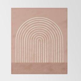 Arch Terra Pink Throw Blanket