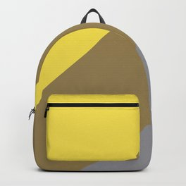 Grey Yellow Brown Line Design Solid Colors 2021 Color of the Years and Accent Hue Backpack